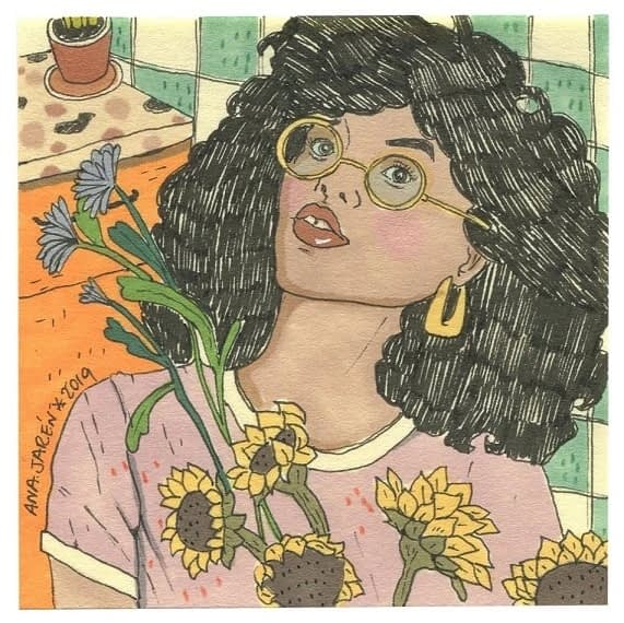 Ana Jarén - Sunflower (post-it)
