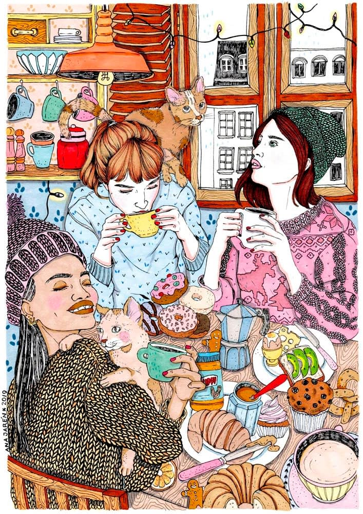 Ana Jarén - Brunch with cats